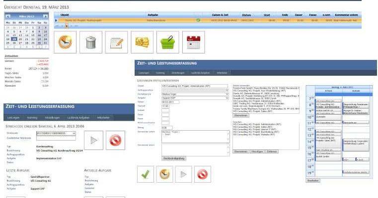 WEB-Zeiterfassung für SAP Business One