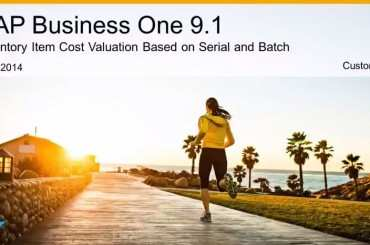 SAP B1 Serial Chargen