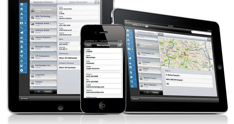 Update für coresuite mobil für SAP Business One