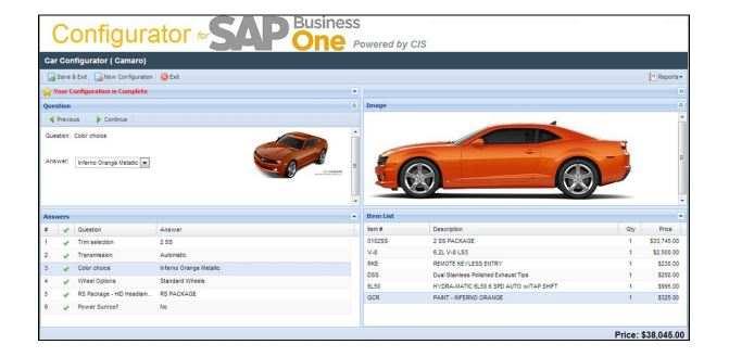 Angebotskonfiguratorion für SAP Business One