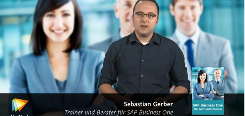 SAP Business One für Administratoren – Neu gratis Videos