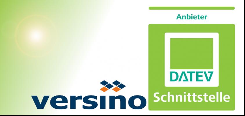 Versino ist offizieller DATEV Schnittstellen Anbieter