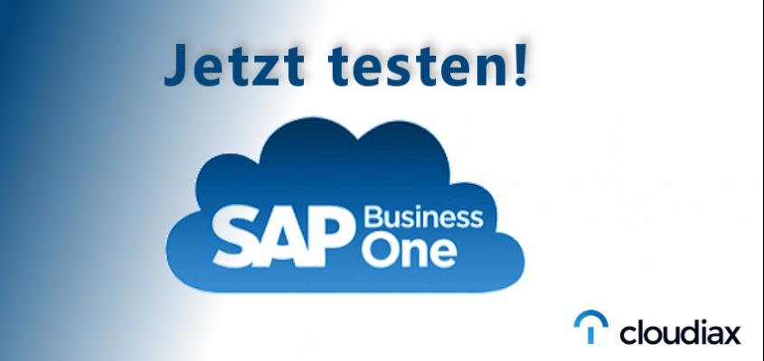 Jetzt die SAP Business One Cloud testen