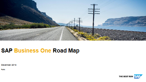 SAP B1 Roadmap