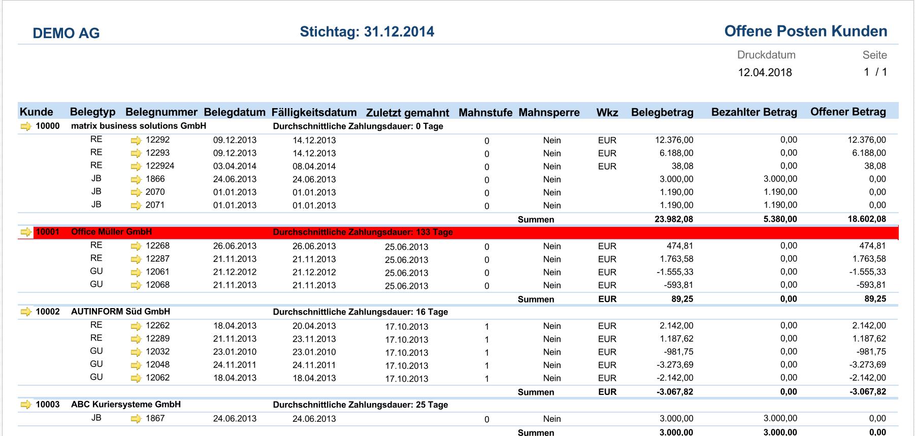 Report-offene-Posten-Kunden