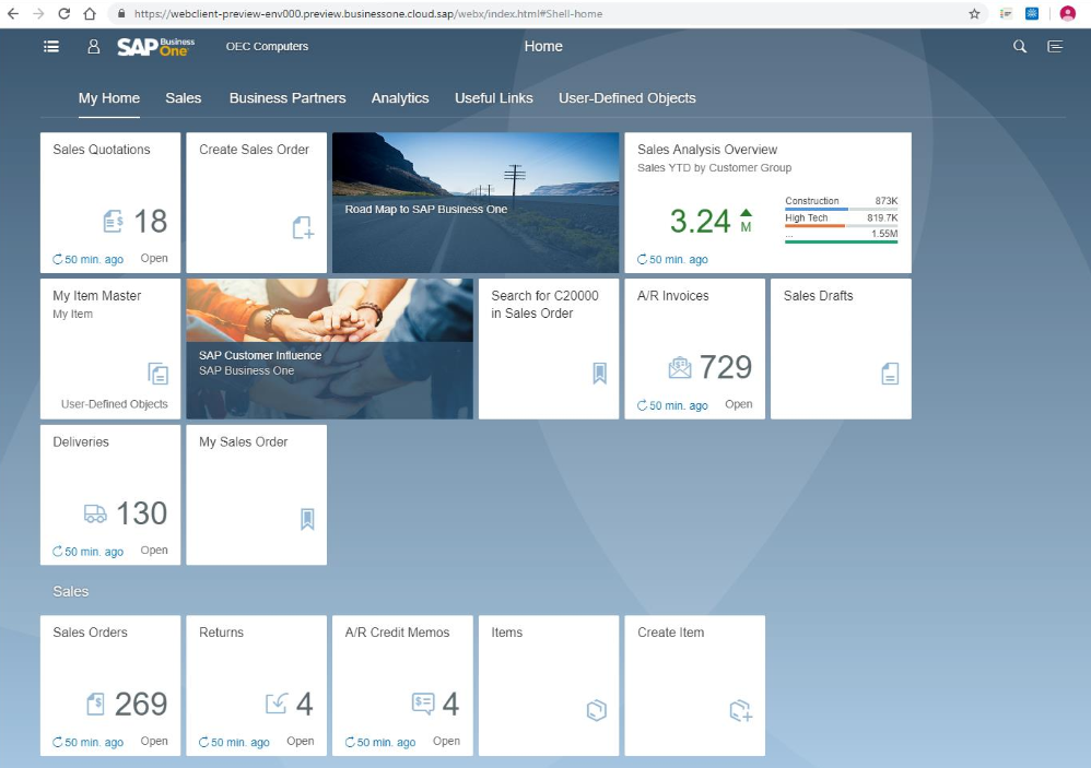 SAP B1 10-Webclient-Preview