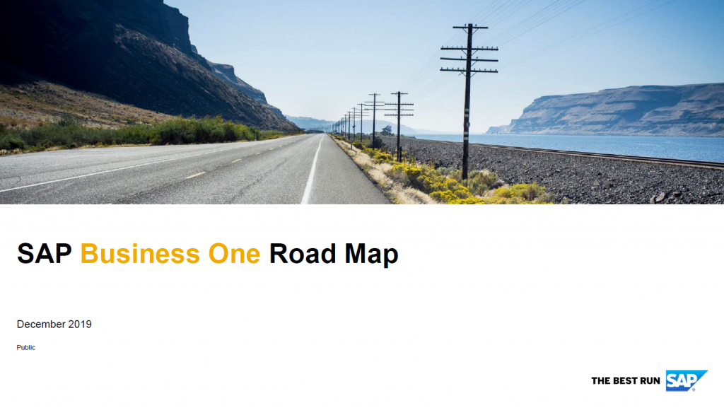 SAP Business One Roadmap